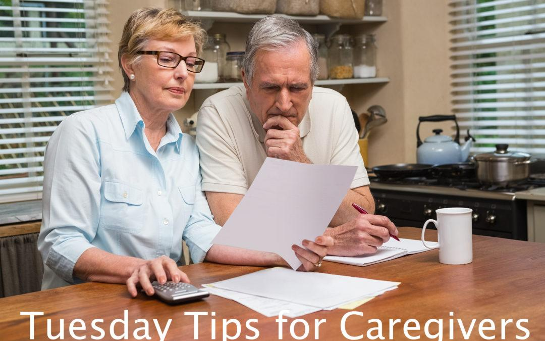 Tuesday Tips for Caregivers ~ 10 Ways to Afford the Care You Need